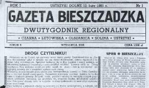 """Zdigitalizowano pierwszy rocznik """"Gazety Bieszczadzkiej"""""""